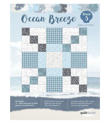 Quilt Block Ocean Breeze 13-Pieces Block 5 Kit-Sea Urchin