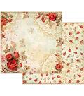 Stamperia 10 pk 12\u0027\u0027x12\u0027\u0027 Double-Sided Cardstock-Red Roses