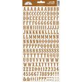 Doodlebug Love Letters Cardstock Alphabet Stickers