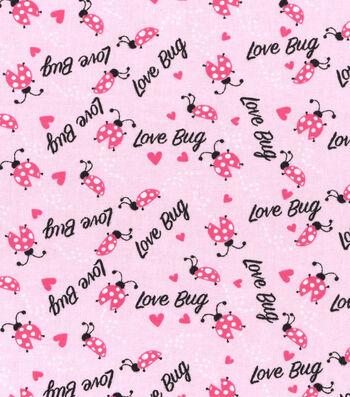 "Nursery Cotton Fabric 43""-Lady Bug Love Toss"