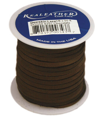 Realeather Crafts Deerskin Lace Spool 0.13''x50 feet