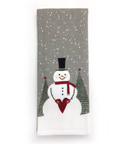 Maker's Holiday Christmas 16''x28'' French Terry Towel-Snowman, , hi-res