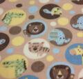 Nursery Fabric- Multi Animl Dot Fleece