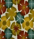 Robert Allen @ Home Print Fabric 55\u0022-Pure Petals Pomegranate