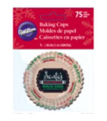 Wilton® Standard Baking Cups-Holiday Sweet Swap 75/Pkg