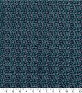 Quilter\u0027s Showcase™ Fabric 44\u0027\u0027-Pool Green Ditsy Floral on Navy