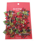 Blooming Holiday 3\u0027\u0027 Bagged Plaid Poinsettias-Red