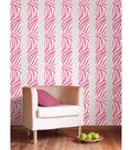 Wall Pops Go Wild Pink Zebra Stripe Decals, 32 Feet