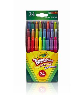 Crayola Twistables Fun Effects Crayons 24PK-Neon, Metallics, Rainbow