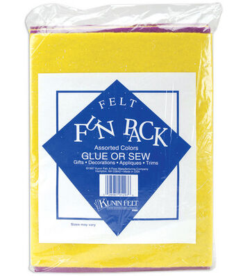 "Craft Felt Fun Pack 9""x12""-Assorted"