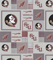 "Florida State University Seminoles Fleece Fabric 58""-Gray Block, , hi-res"