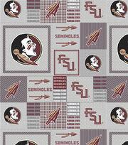 "Florida State University Seminoles Fleece Fabric 58""-Gray Block, , hi-res"