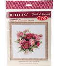 RIOLIS Counted Cross Stitch Kit 15.75\u0022X15.75\u0022-Peonies In A Vase