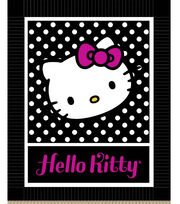 "No Sew Fleece Throw 48""-Hello Kitty Black and White, , hi-res"
