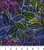 "Legacy Studio™ Indonesian Batiks Cotton Fabric 44""-Rainbow Leaves, , hi-res"