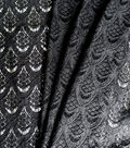 Apparel Knit Fabric-Stretch Lace Black