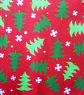 Keepsake Calico™ Holiday Cotton Fabric 43\u0022-Trees and Snow