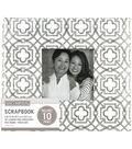K&Company Gray Geo 8\u0022x8\u0022 Window Scrapbook