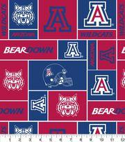 """University of Arizona Wildcats Fleece Fabric 58""""-Block, , hi-res"""