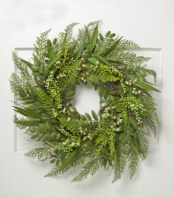 Bloom Room Spring 30'' Meadow & Fern Wreath