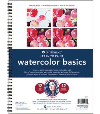 """Strathmore Learn To Paint Wire Pad 9""""X12""""-Watercolor Basics"""