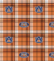 "Auburn University Tigers Fleece Fabric 58""-Plaid, , hi-res"