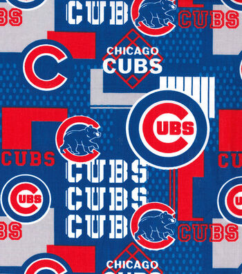 """Chicago Cubs Cotton Fabric 58""""-Patch"""