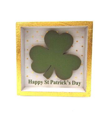 St. Patrick's Day Shadow box Table Decor-Happy St. Patrick's Day