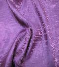 Nicole Miller Crinkle Satin Fabric-Tyrian Purple