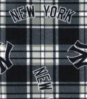New York Yankees Fleece Fabric 58''-Plaid, , hi-res