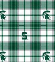 "Michigan State University Spartans Fleece Fabric 58""-Plaid, , hi-res"