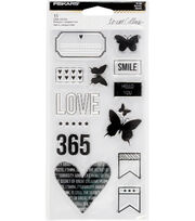 Fiskars® Teresa Collins Clear Stamps-Smile, , hi-res