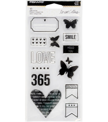 Fiskars® Teresa Collins Clear Stamps-Smile