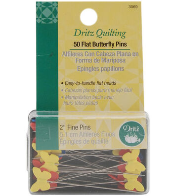 """Dritz® Quilting Flat Butterfly Pins 2""""-50/pkg"""
