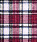 Snuggle Flannel Fabric 43\u0027\u0027-Traditional Tartan Plaid