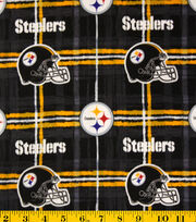 "Pittsburgh Steelers Flannel Fabric 42""-Plaid, , hi-res"