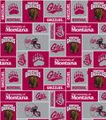 University of Montana Grizzlies  Fleece Fabric 60\u0022-Red & Gray Block