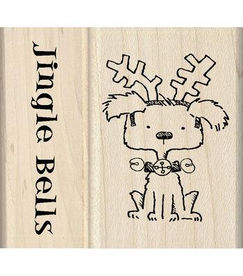 Inkadinkado® Mounted Rubber Stamp-Jingle Bells