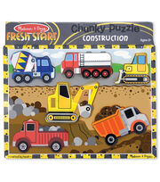 Melissa & Doug Construction Chunky Puzzle, , hi-res