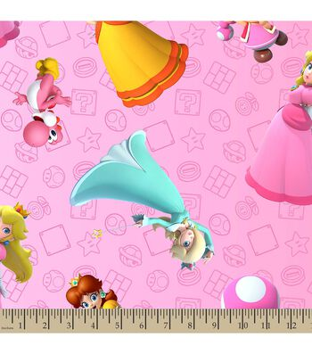 Nintendo Mario Print Fabric-Super Mario Brothers Princess