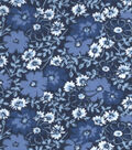 Snuggle Flannel Fabric 42\u0022-Twilight Floral