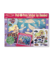 Melissa & Doug Peel & Press Sticker by Number - Mermaid Reef, , hi-res