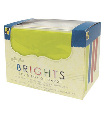 DCWV A2 Box Of Cards-40PK/Brights