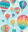 Snuggle Flannel Fabric 42\u0027\u0027-Hot Air Balloons