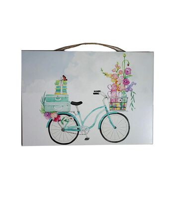 Hello Spring MDF Wall Decor-Bicycle