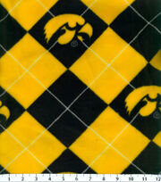 "University of Iowa Hawkeyes Fleece Fabric 58""-Argyle, , hi-res"