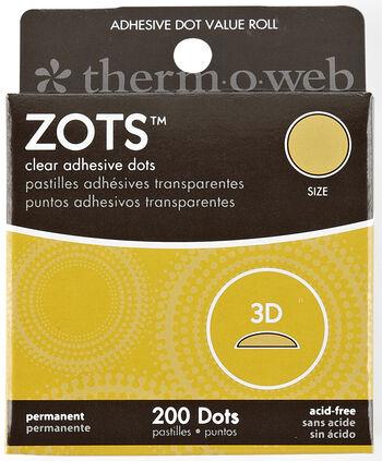 Memory Zots 3-d 200ct