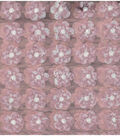 Sew Sweet Collection- Sequin Daisy Mesh Pink With White
