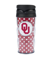 University of Oklahoma Polka Dot Travel Mug, , hi-res