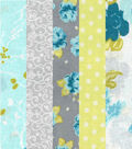 Jelly Roll Cotton Fabric 20 Strips 2.5\u0027\u0027-Springtime Birds & Dots